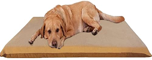 ehomegoods 54X37 X4 XL Beige Color Orthopedic Memory Foam Pet Bed Mattress for Large Dog with 2 External Covers Waterproof Internal Cover