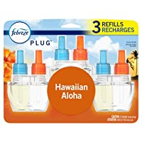 Febreze Plug in Air Freshener and Odor Eliminator, Scented Oil Refill, Hawaiian Aloha, 3 Count