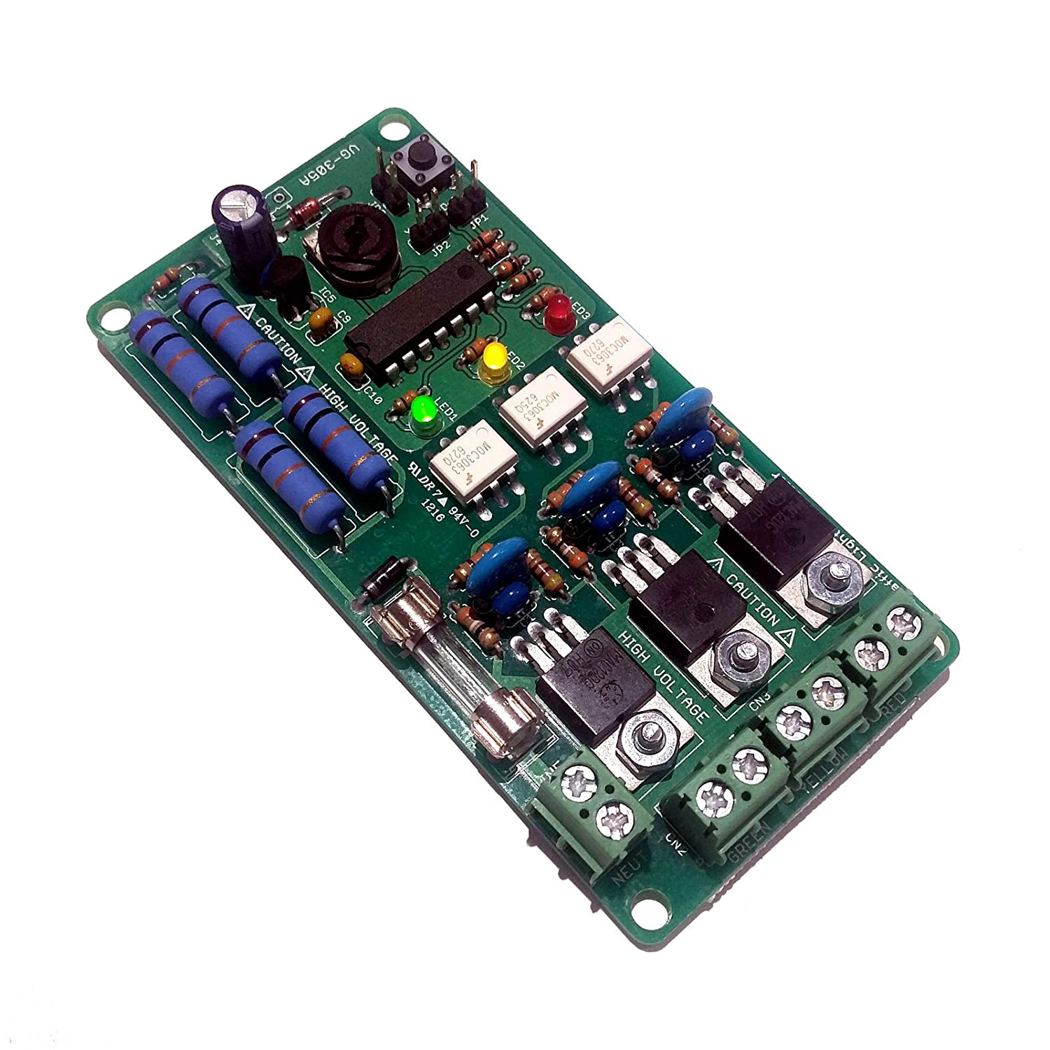 Galak Electronics Ac Traffic Light Controller Sequencer 8 Channel Chaser Using 8051 120vac Free Us Shipping Computers Accessories