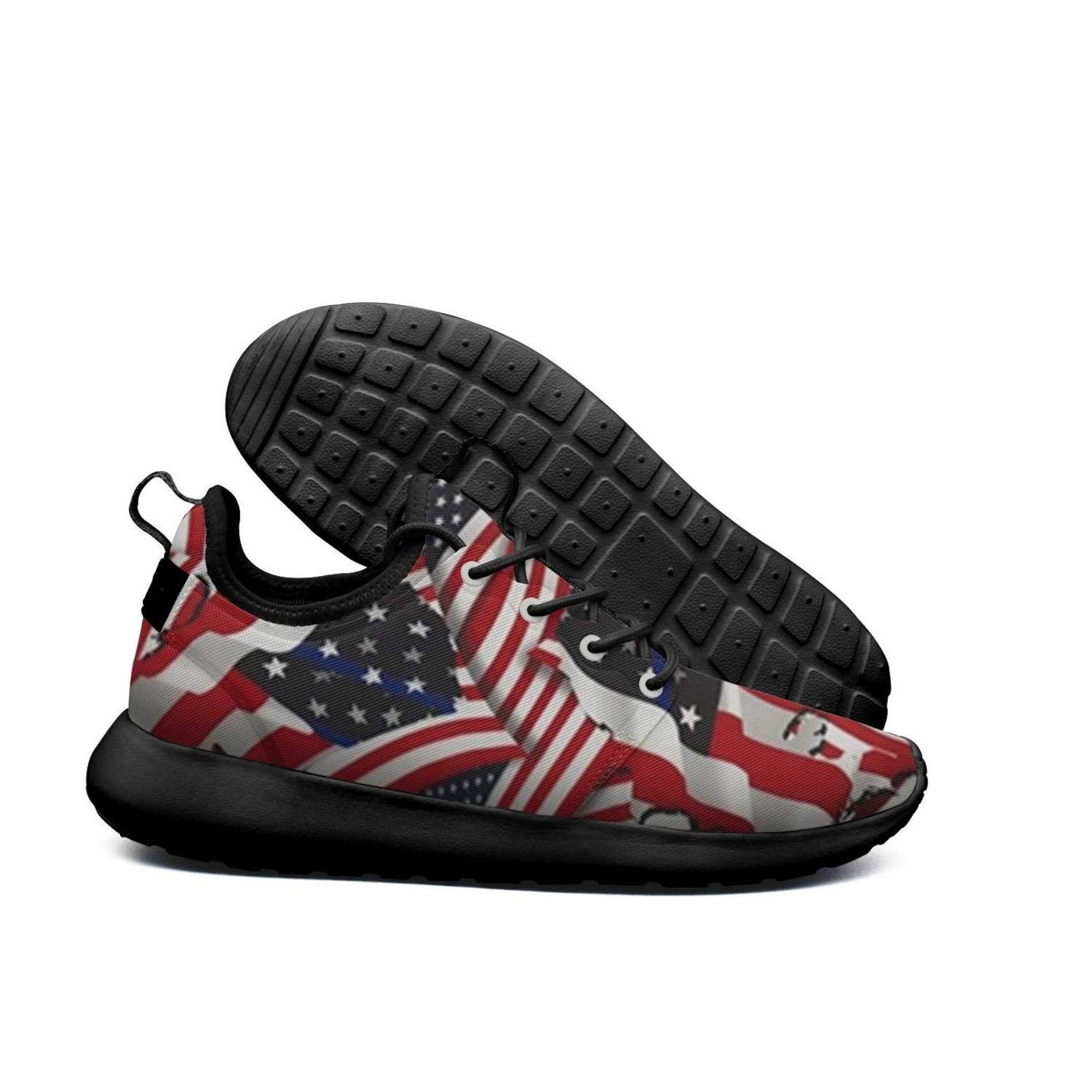 db80ab635a0ff Amazon.com: American Flag Color Classic Print men sports Running ...