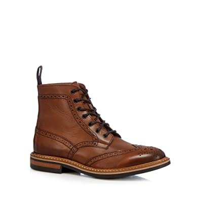 Men's Tan Leather Boots Boots Boots Shoes Hammond Co By Patrick Grant 'rocky' Toe Cap Shoes