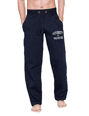 09b62708b UOW - Pantalón Deportivo - para Hombre Azul Azul Marino Talla Medium    32-34W  Amazon.es  Deportes y aire libre