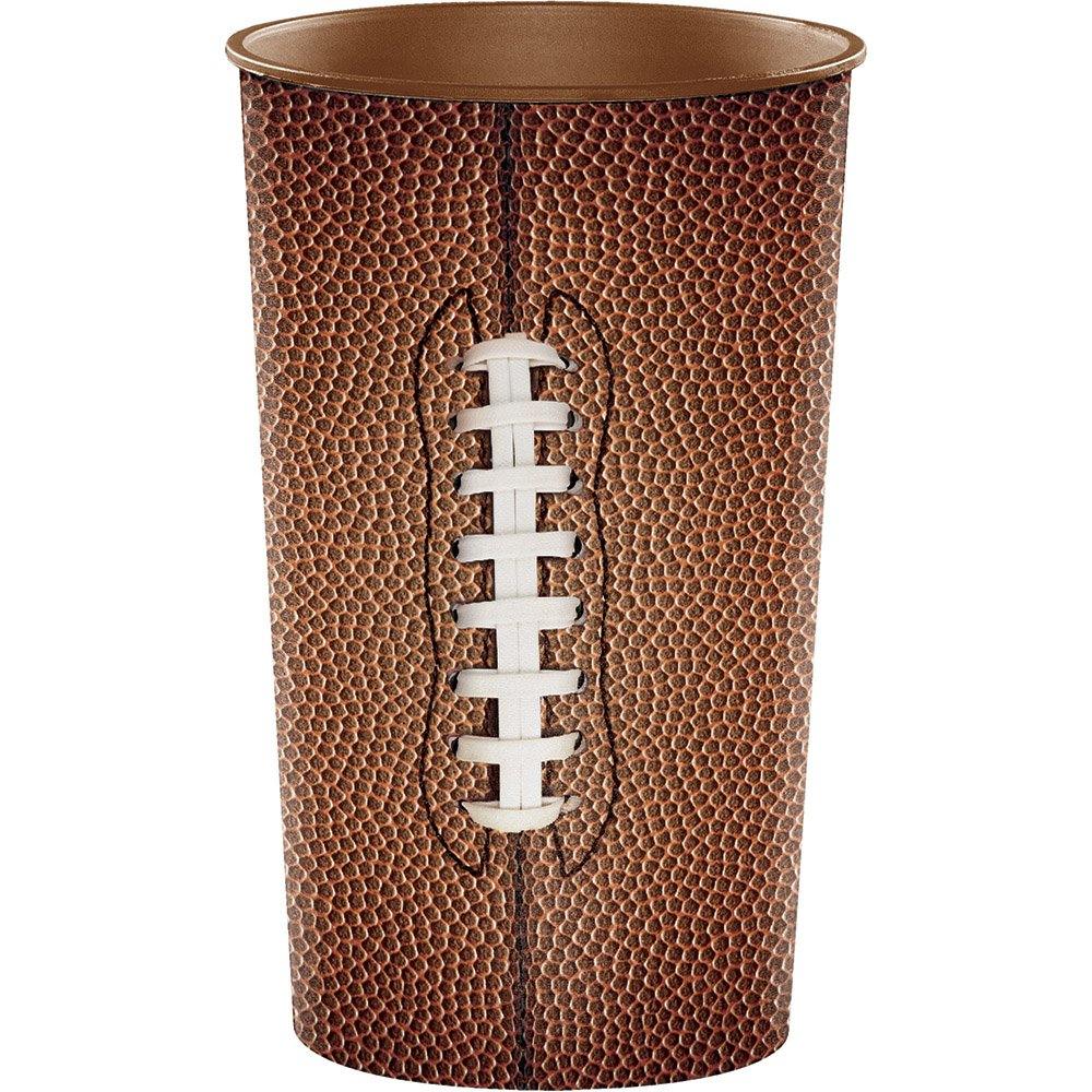 Creative Converting 20-Count Plastic Cups Football 22-Ounce