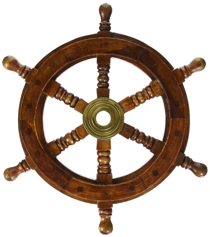 Pirate Ship Wheel Nautical Decor