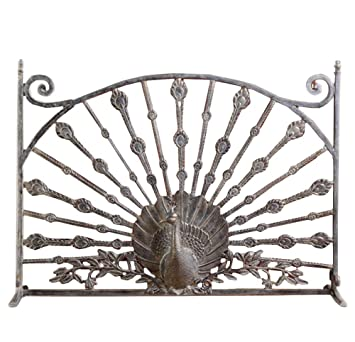 Amazon.com: Peacock Aluminum Fireplace Screen: Home & Kitchen