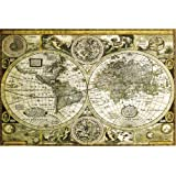 Classical World Map Poster 36 x 24in