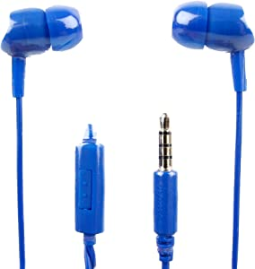 DURAGADGET Premium Quality Blue in-Ear Earphones with Microphone - Suitable for Acer Switch 3 SW312-31-P5VG