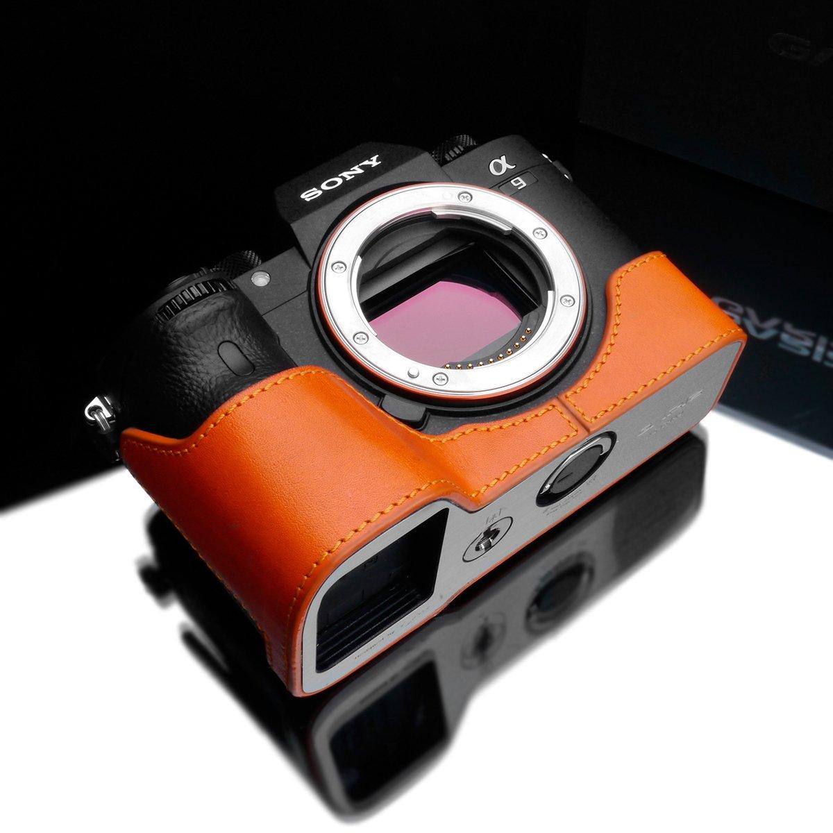 Gariz xs-cha9or Genuine Leather Half Case for Sony a9 / Sony a7r III、オレンジ   B0746B62K8