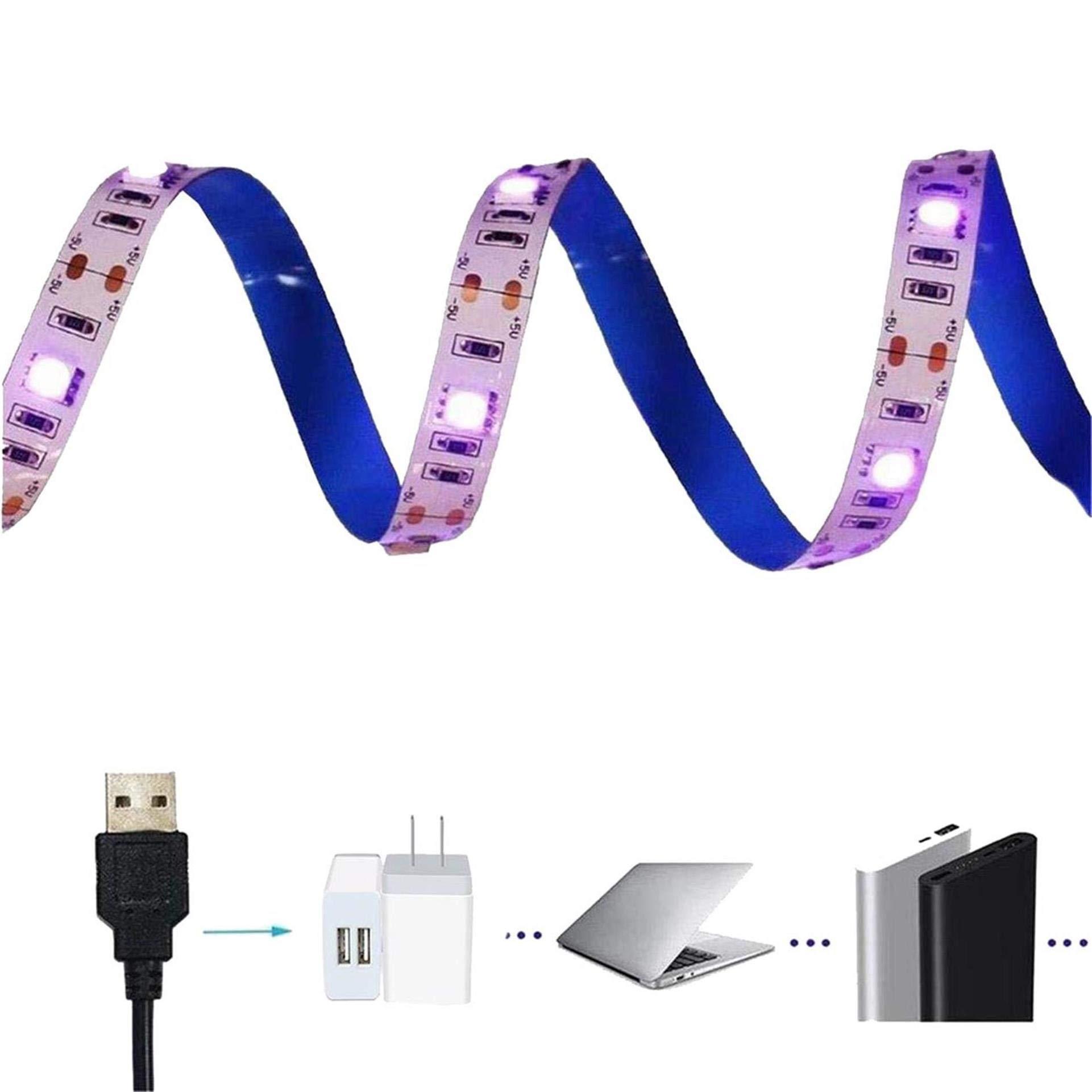 Black Light Strip, AMARS USB Design 6.6FT 60leds UV Ultraviolet USB Operated LED Blacklight Strip (Super Bright 5050 SMD, Move Freely)