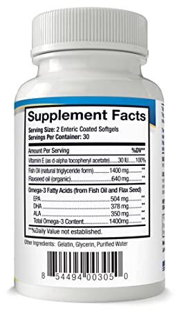Amazon.com: Lipotriad Dry Eye Formula - 1400mg Omega-3 Supplement – With Natural Triglyceride Fish Oil + Organic Flax Seed and Vitamin E - Support for ...