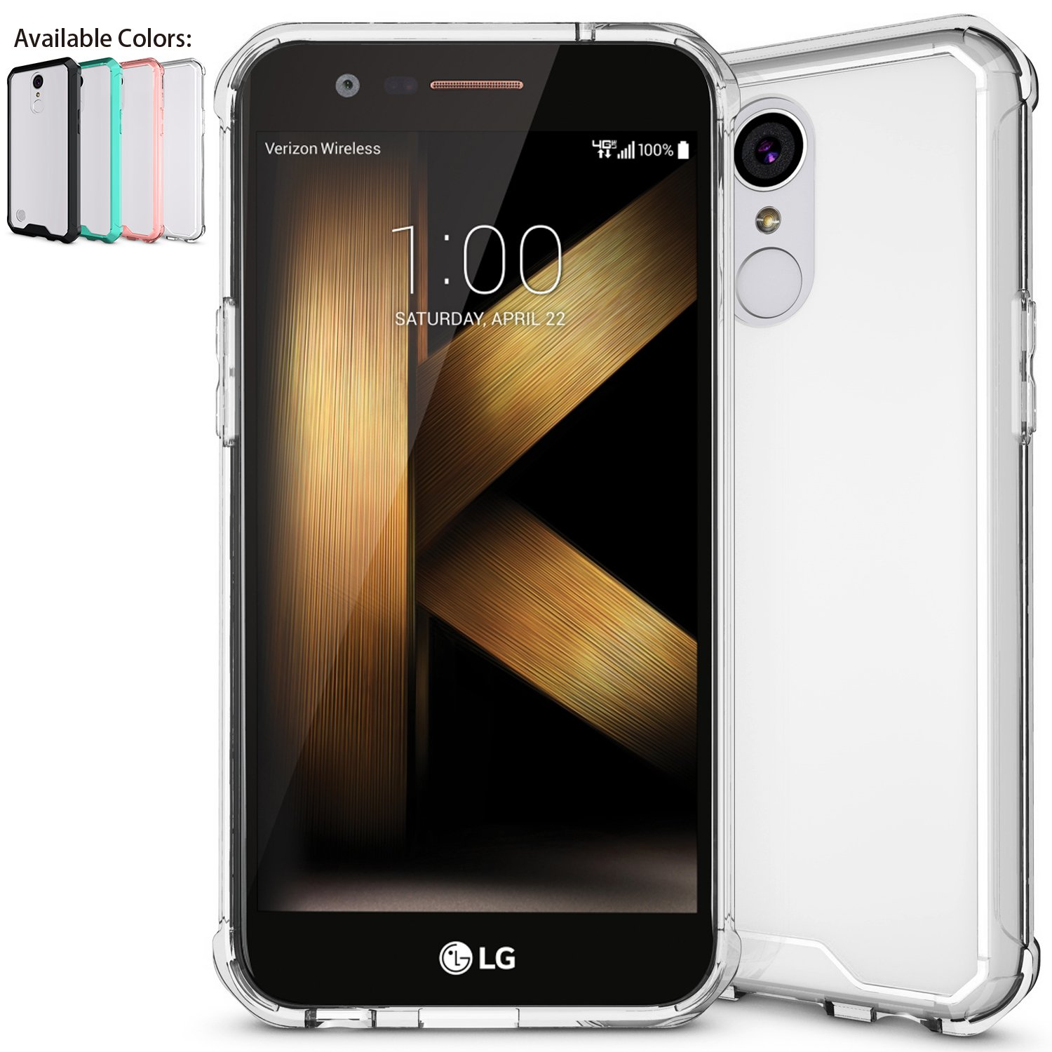 LG K20 Plus Case,LG K20 V Case,LG Harmony Case,LG Grace Case with HD Screen Protector,NiuBox Armor Ultimate Crystal PC Cover TPU Bumper Absorption Protective Clear Phone Case for LG K10 2017 Clear