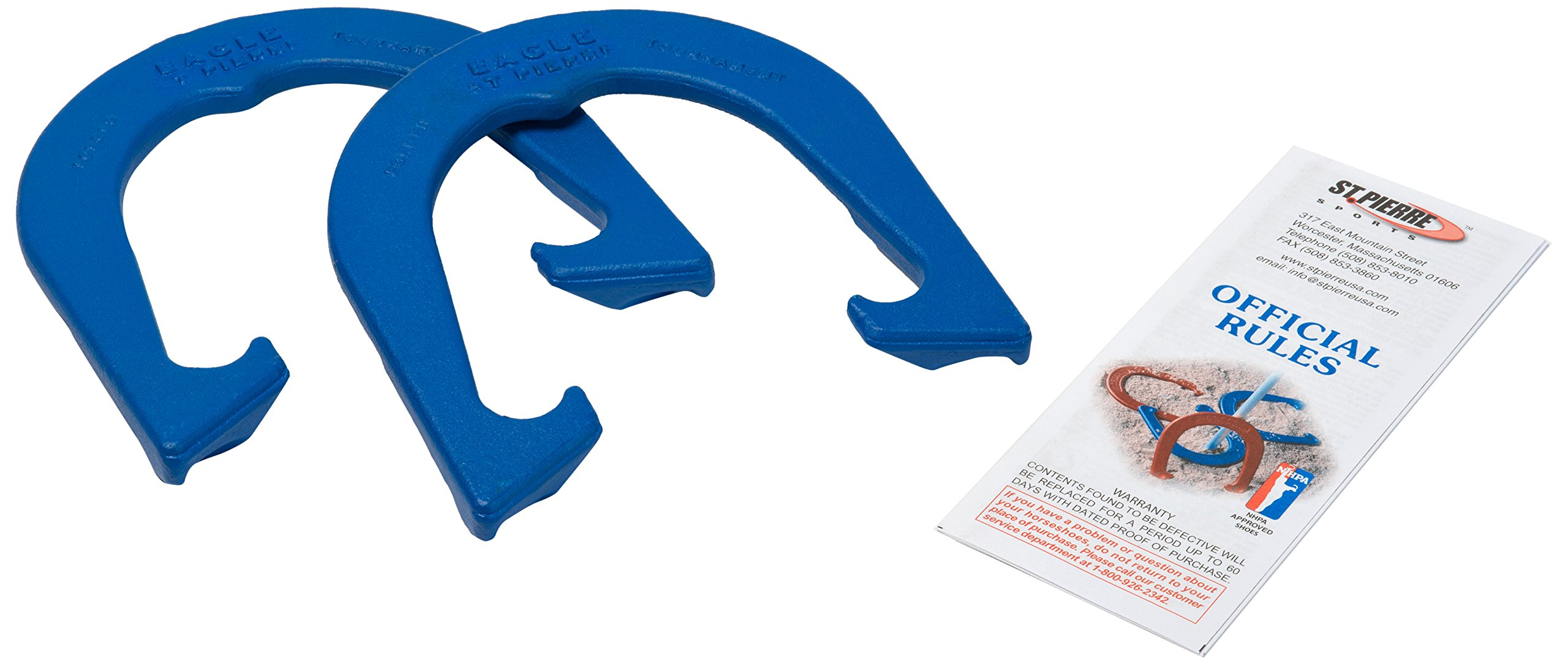 St Pierre Sports Eagle Tournament Horseshoe (1-Pair), Blue by St Pierre Sports