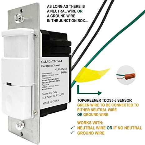 ceiling fan wiring ceiling fan switch amazoncom topgreener motion sensor light switch - Ceiling Fan Switch