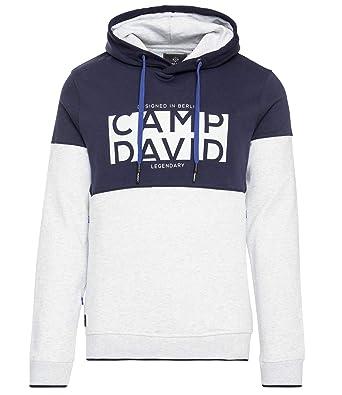 official images 100% top quality exclusive range Camp David Herren Colour Blocking Hoodie mit Logo