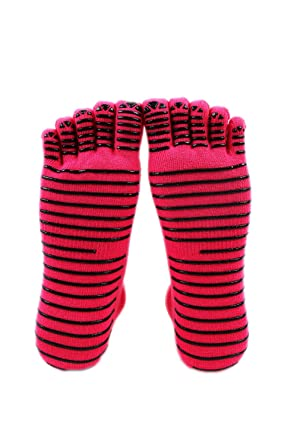 Dazosue Mens Womens Toe Socks Crew Neck Antideslizante ...