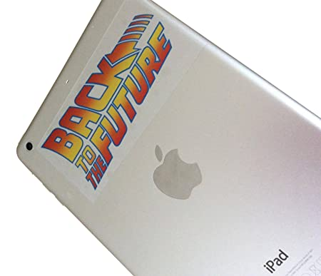 Back to the future set of 4 clear stickers