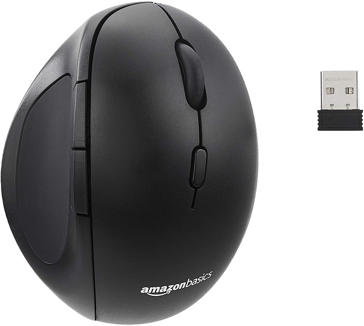 Basics Wireless Tweaked Vertical Ergonomic Optical Mouse
