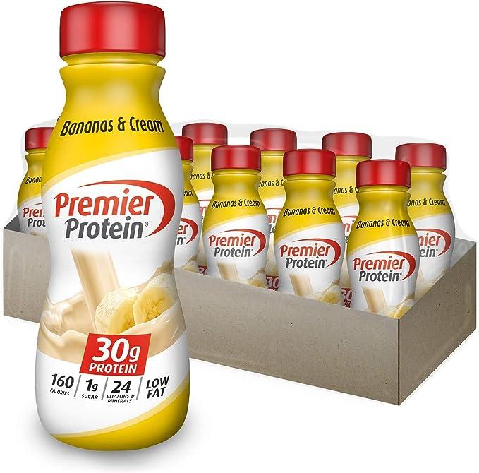 Amazon.com: Premier Protein 30g Protein Shake, Bananas & Cream, 11.5 Fl Oz Bottle, (12Count): Health & Personal Care