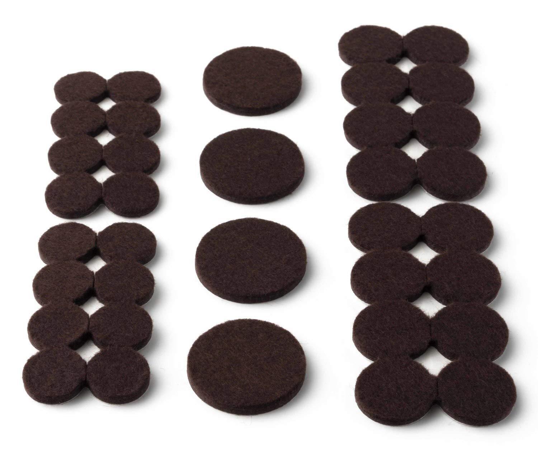 Scotch SP807-NA Round Felt Furniture Pads, Beige, 2, 6 Pack 2 3M