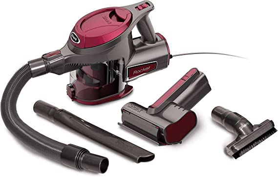 Shark Rocket Ultra-Light with TruePet Mini Motorized Brush and 15-foot Power Cord Hand Vacuum (HV292), Maroon best handheld vacuum