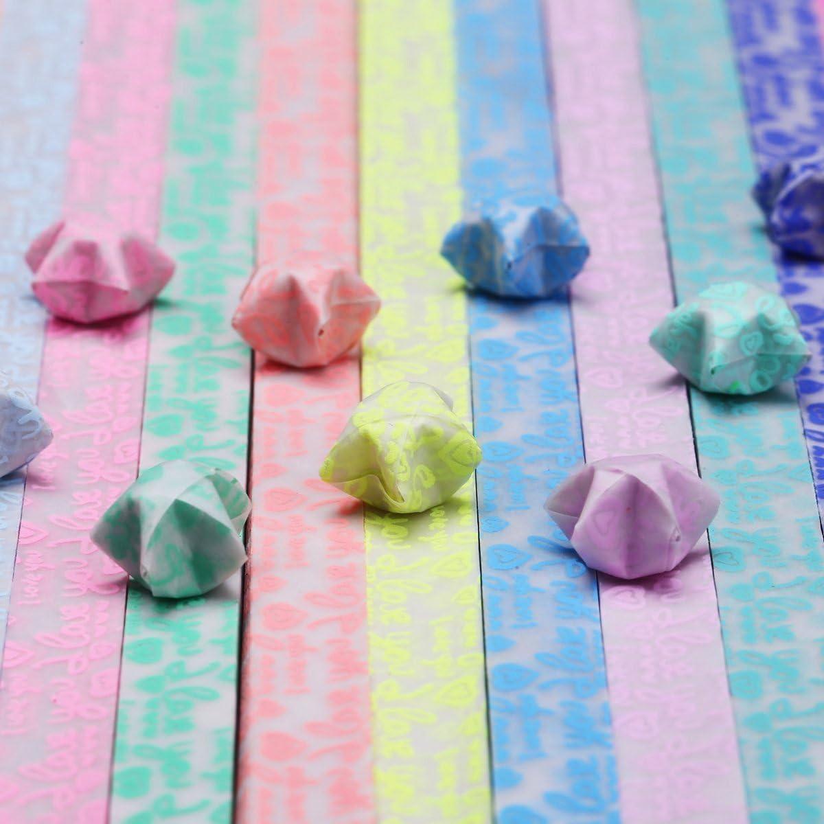 Environ 600/feuilles DIY Lucky /étoile Origami Brille dans la Nuit