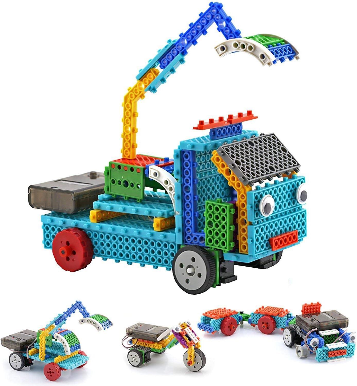 Top Race Control remoto RC Blocks, Robot Vehicle Building Kit. Construya su vehículo y controle con el control remoto inalámbrico, varios colores