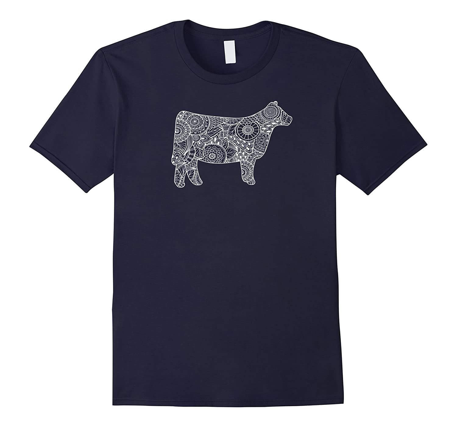 Cow Mandala Shirt - Trendy for Cattle Beef Livestock Show-FL