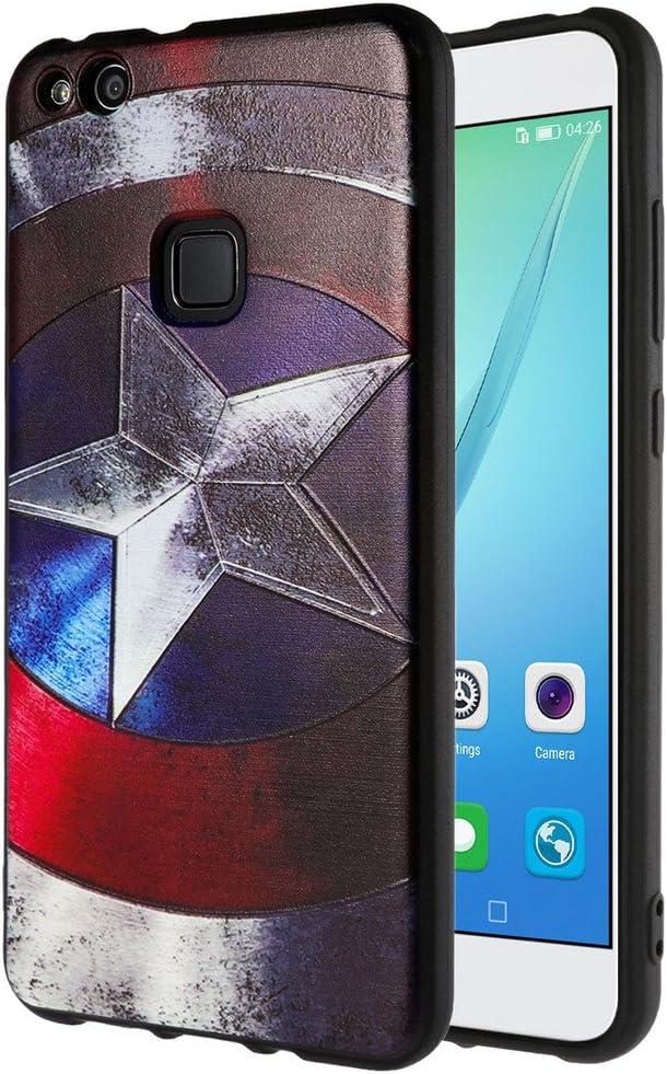 Custodia Huawei P10 Lite , ivencase Creative 3D morbida TPU Custodia Flessibile Skin Slim Case di protezione Cover per Huawei P10 Lite