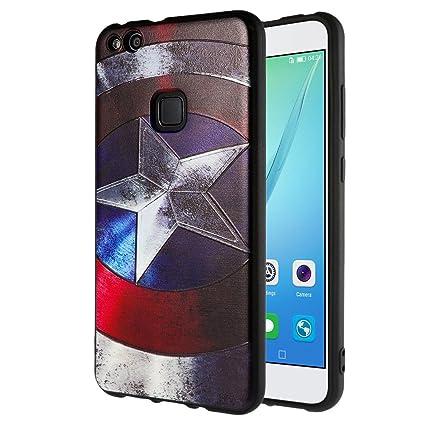Huawei P10 Lite Funda , ivencase 3D modelo Carcasa TPU Flexible Case UltraSlim Choque Absorción Protección Tapa para Huawei P10 Lite