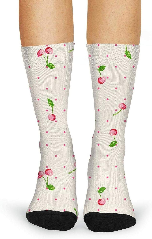 XIdan-die Womens Over-the-Calf Tube Socks Vintage Cherry Moisture Wicking Casual Socks