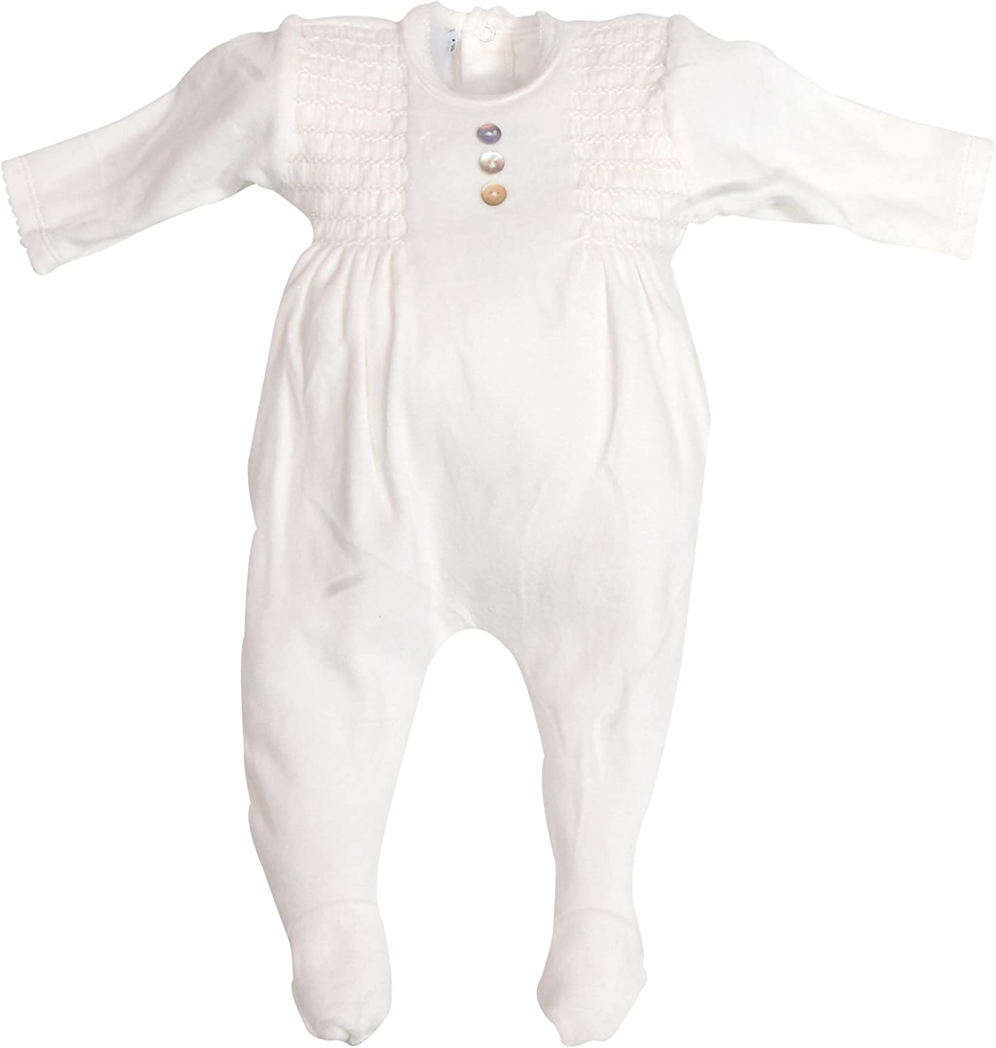 0-12 Months kavkas Baby Footies Velour Romper Newborn Sleep and Play Sleepsuit for Baby Girls and Boys Winter Clothing Set with Hat and Gloves