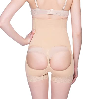 3421afa1484 Geekercity Women Seamless High Waist Trainer Butt Lifter Panty Tummy  Control Thong Shapewear Body Shaper Hourglass Figure Buttock Enhancer  Panties