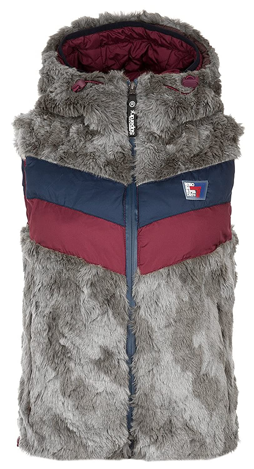 superdry damen weste antarctic apres ski gilet grau l 40 jetzt bestellen. Black Bedroom Furniture Sets. Home Design Ideas