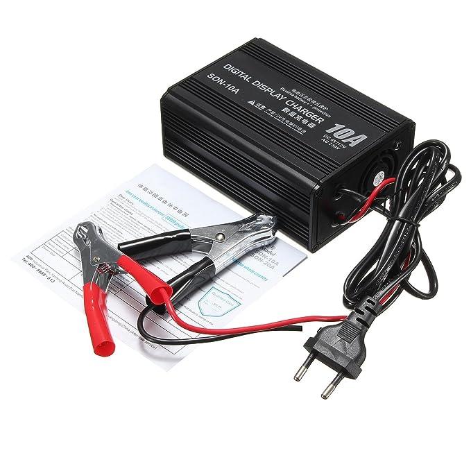 Cargador de batería de 6 V/12 V 10 A para Coche o ...