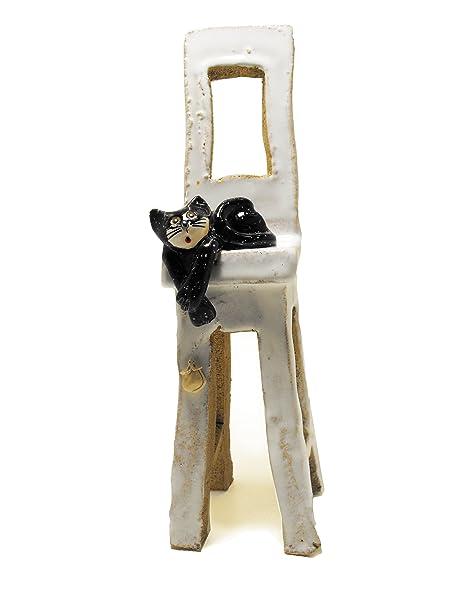 Buena suerte gato negro | silla | esperando para cenar | mesa de ...