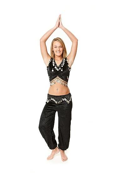 Amazon.com: Disfraz de danza del vientre de terciopelo de ...