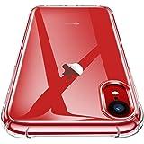 """Garegce Custodia iPhone XR, TPU Morbido Silicone Bumper Cover[Libero Pellicola Vetro Temperato][Ultra Sottile] Anti Scivolo, AntiGraffio, Antiurto Protettiva Case per iPhone XR 6.1"""" (Trasparente)…"""