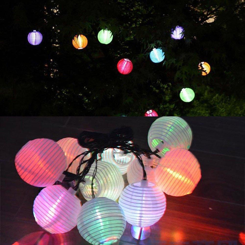 H+K+L Garden Path Solar Power Environment-Friendly Lantern String Lights LED Lantern Fairy Lights String with 10 LED White Ligths (Multicolor)
