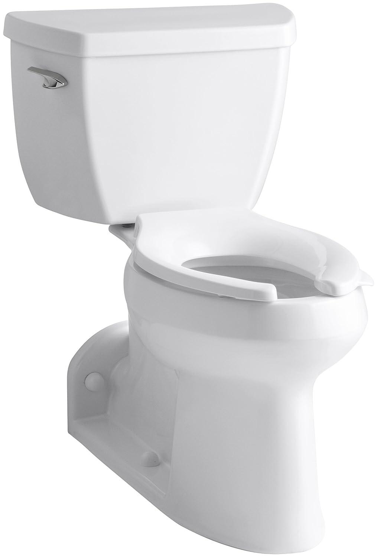 Kohler K-3578-0 Barrington Pressure Lite, Comfort Height Toilet ...