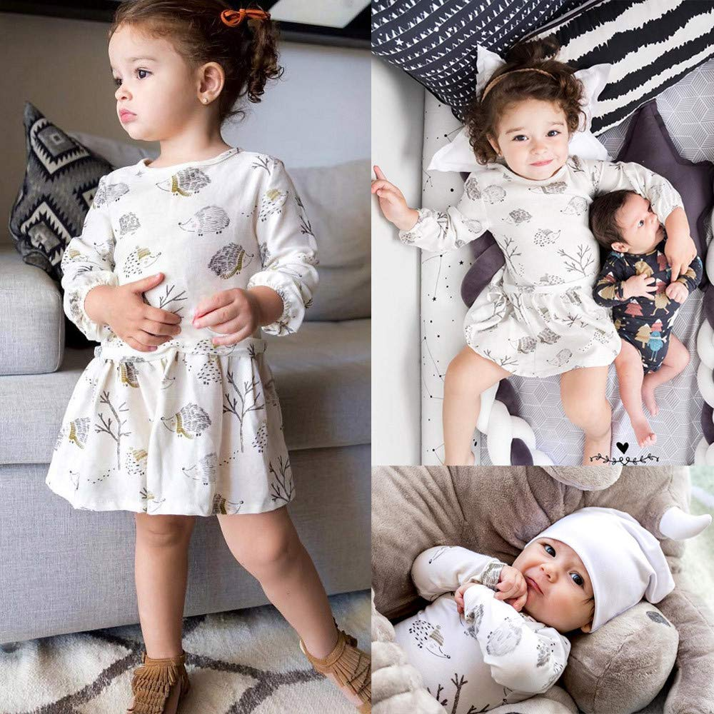 AMSKY Baby Clothes Boy Newborn,Newborn Infant Baby Girl Boy Long Sleeve Cartoon Romper Jumpsuit Clothes Outfits,Baby Girls' Costumes,White,70 by AMSKY (Image #5)