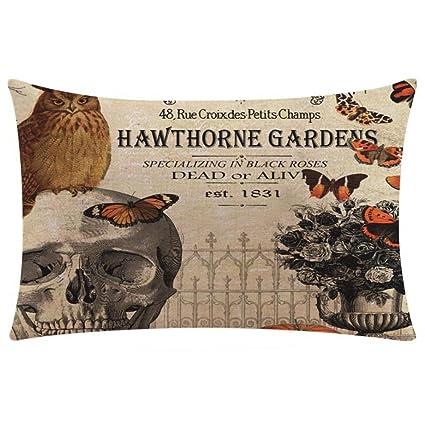 Amazon.com: Clearance!Halloween Pillow Case Cuekondy Cotton ...