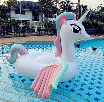 Maison Jardin Casa jardín 36013 Baby unicornio gran flotador hinchable para fiestas de piscina juguete hinchable