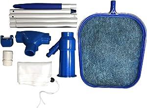 KKmoon Pool Cleaning Set Swimming Pool Cleaning Tools Maintenance Above Ground Skimmer Brush Vacuum Hose