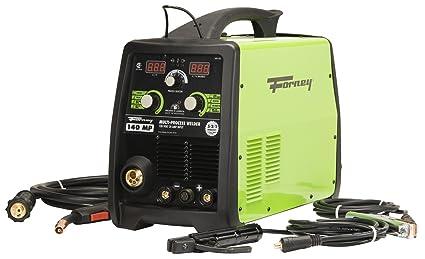 Forney 322 140-Amp MIG/Stick/TIG- Soldador multiprocesos, 120 V