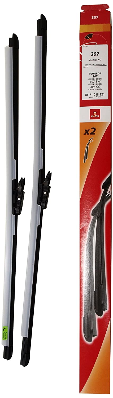 Peugeot 307 Accesorios 8671018221 Juego de Dos Escobillas Limpiaparabrisas: Amazon.es: Coche y moto