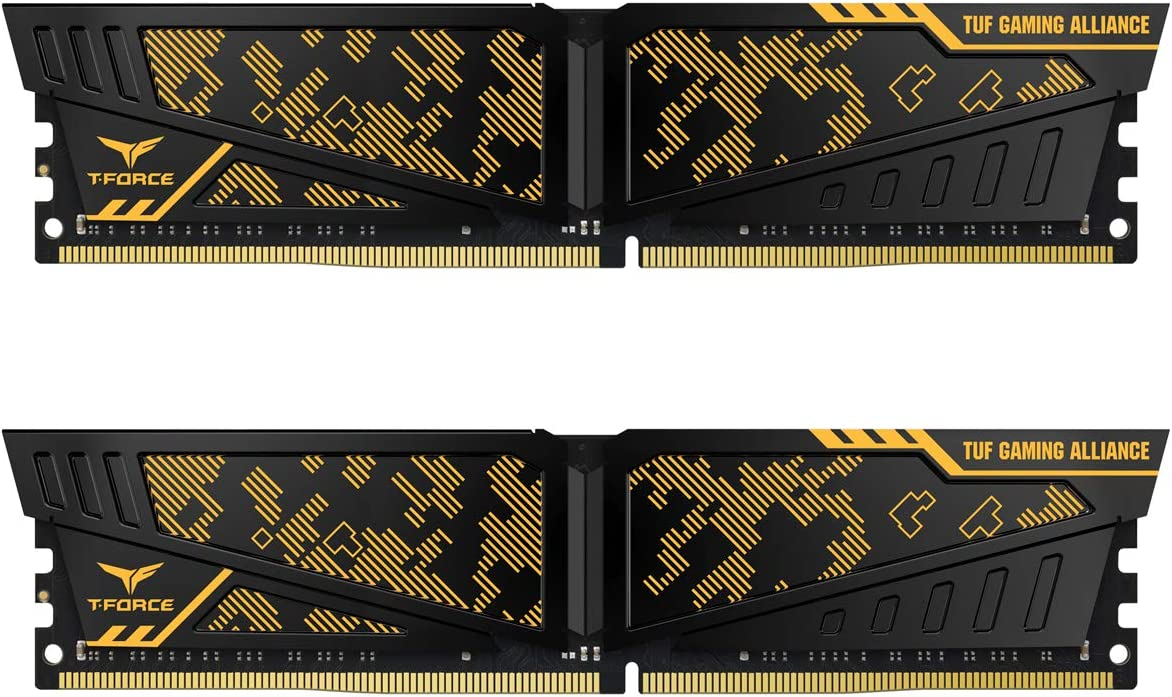 TEAMGROUP T-Force Vulcan TUF Gaming Alliance 16GB (2x8GB) 3200MHz (PC4-25600) CL 16 Desktop Gaming PC Memory Module Ram Upgrade 288-Pin DDR4 SDRAM - TLTYD416G3200HC16CDC01