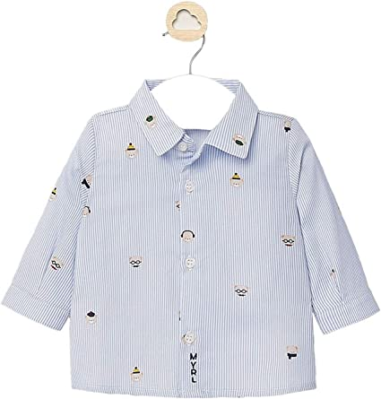 Mayoral, Camisa para bebé niño - 2120, Azul: Amazon.es: Ropa ...