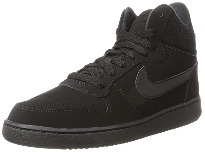 TG. 43 EU nero nero Nike Court Borough Mid Sneaker a Collo Alto Donna Nero
