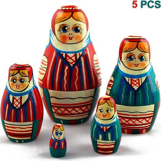 The Wonderful Wizard of Oz Matryoshka Russian Nesting Dolls Babushka Set 7 Pcs