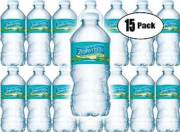 Zephyrhills Natural Spring Water, 12 Fl Oz Bottle (Pack of 15, Total of 180  Fl Oz)